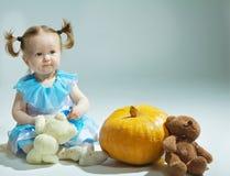 Beautiful princess in Cinderella dress Stock Photos