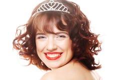 Beautiful princess with diamond crown Royalty Free Stock Photo