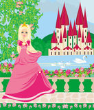 Beautiful princess in the garden Stock Images