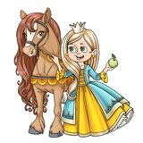 Beautiful princess with horse Stock Image