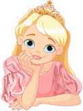 Beautiful Princess. Illustration of beautiful princess are thinking Stock Photography
