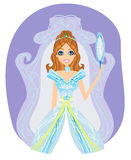 Beautiful princess with mirror in her hands Royalty Free Stock Photo