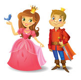Beautiful princess and prince Royalty Free Stock Image
