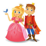 Beautiful princess and prince Royalty Free Stock Photography