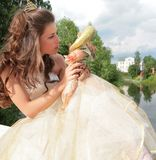 Beautiful princess says good-bye to childhood Stock Photography