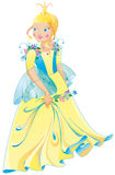 The beautiful princess in a wonderful dress Royalty Free Stock Image