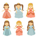 Beautiful princesses set Stock Photography