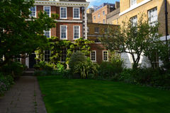 Beautiful private garden in summer/spring near Edwardian house Royalty Free Stock Images