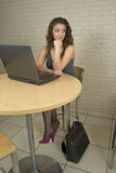 Beautiful professional woman or college student Stock Images