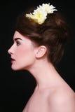 Beautiful profile Stock Image