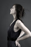 Beautiful Profile. Of A Fashion Model Stock Images