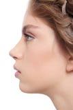 Beautiful profile Stock Photography