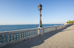 Beautiful promenade of Cadiz, Spain Royalty Free Stock Photo
