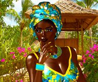 Beautiful Proud African Woman. Stock Photo