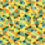 Beautiful psychedelic abstract geometric background vector illustration grunge effect Stock Photos