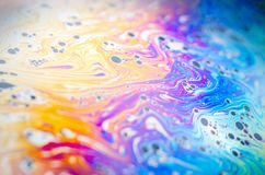 Beautiful psychedelic abstractions in soap foam Stock Photo