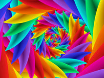 Beautiful Psychedelic Rainbow Spiral Background Stock Photography
