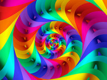 Beautiful Psychedelic Rainbow Spiral Background royalty free stock photos