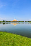 A beautiful public garden in Bangkok, Thailand. Royalty Free Stock Photos