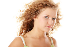 Beautiful pudgy caucasian girl Stock Photography