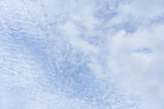 Beautiful puffy white clouds and blue sky Royalty Free Stock Photo