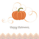 Beautiful pumpkin with swirls. Pumpkin for Halloween party. Vector pumpkin illustration for web or for a card Royalty Free Stock Image