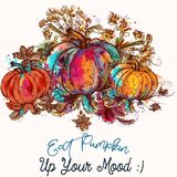 Beautiful Pumpkins In Watercolor Colorful Style. Eat Pumpkin Up Royalty Free Stock Images