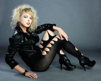 Beautiful punk girl Stock Image