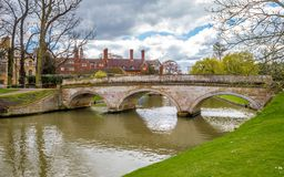 A beautiful punting location on river cam, Cambridge. Cambridgeshire, united kingdom Stock Photo