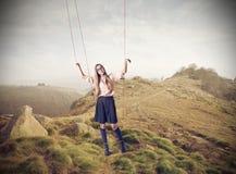 Beautiful puppet woman Royalty Free Stock Photography