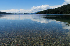 Beautiful pure blue water lake Royalty Free Stock Photos
