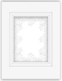 Beautiful pure white paper applique frame Royalty Free Stock Photo