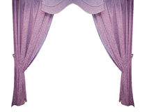 Beautiful purple curtain in a classic style. isolated Stock Photos