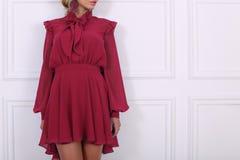 Beautiful purple dress Royalty Free Stock Photography