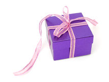 Beautiful purple gift Stock Images