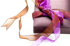 Beautiful purple gift box Royalty Free Stock Image