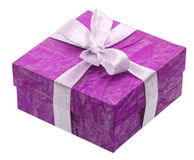 Free Beautiful Purple Gift Isolated On White Royalty Free Stock Images - 13186379