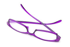 Beautiful purple glasses Royalty Free Stock Photography
