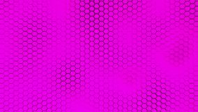 Beautiful purple hexagrid background with slow waves motion. Loop. stock video footage