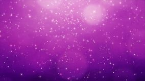 Beautiful Purple particles twinkling flares bokeh sparkles shining  looped Abstract background stock video footage