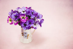 Beautiful Purple and Pink Silk Pansy Stock Images