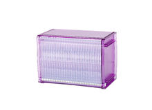 Beautiful purple plastic cd or dvd box Stock Photo