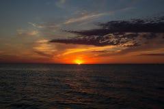 Beautiful purple sunset over the sea Royalty Free Stock Image