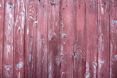 Beautiful purple wooden fence Royalty Free Stock Photography