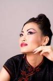 Beautiful Qipao Model Royalty Free Stock Photo