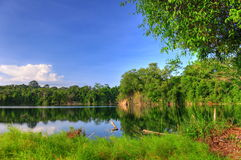 Beautiful quarry on a tropical island Royalty Free Stock Images