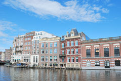 Beautiful quay in  Amsterdam Royalty Free Stock Image
