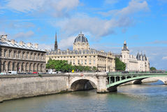 Beautiful quay in Paris Stock Image