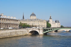 Beautiful quay in Paris Stock Photos
