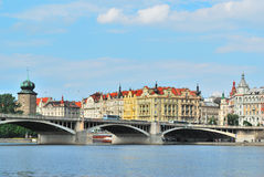 Beautiful quay in Prague Royalty Free Stock Photography